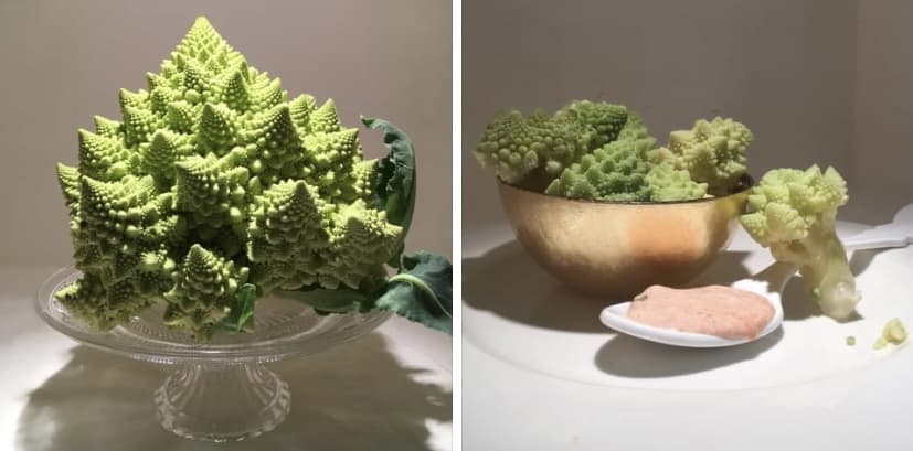 Broccolo romano con salsa yogurt e peperoncino